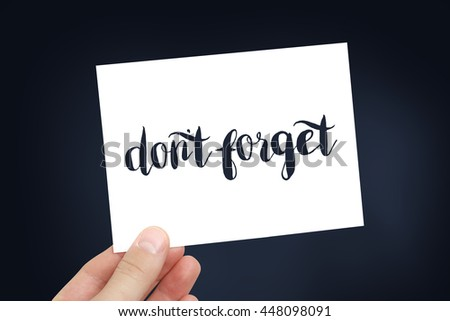 Dont forget concept - stock photo