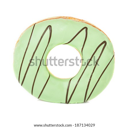 donut isolated - stock photo