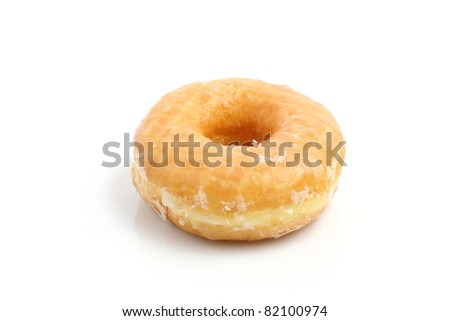 Donut isolated in white background - stock photo
