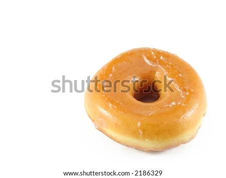 donut isolated on white - stock photo