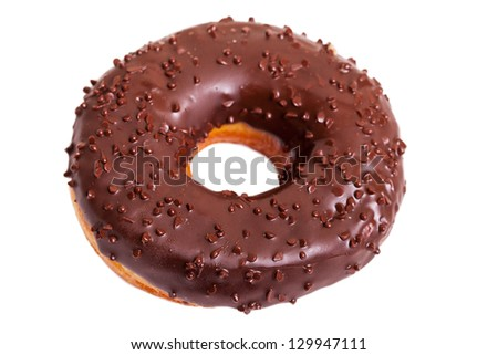 Donut isolated on white background.