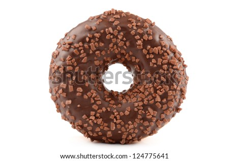 Donut on a white background - stock photo