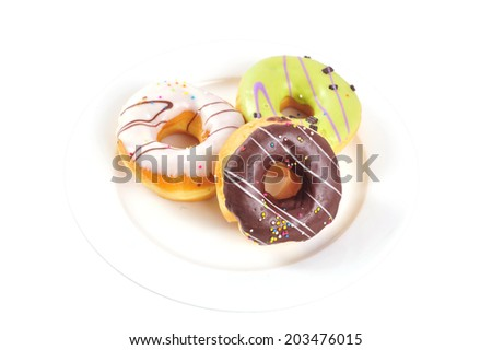 donut on plate