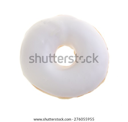 donut, sweet donut with sugar isolated on white background - stock photo