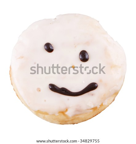 donut with smile - stock photo