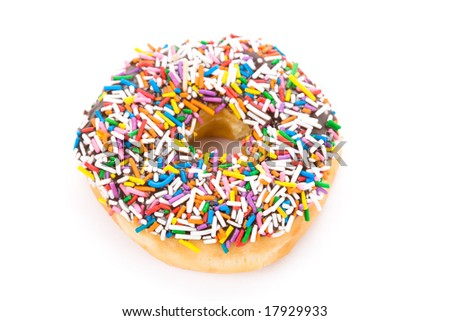 Donut with white background close up shot - stock photo