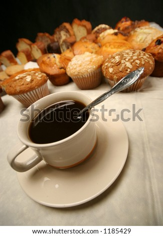 Donuts and coffee - stock photo