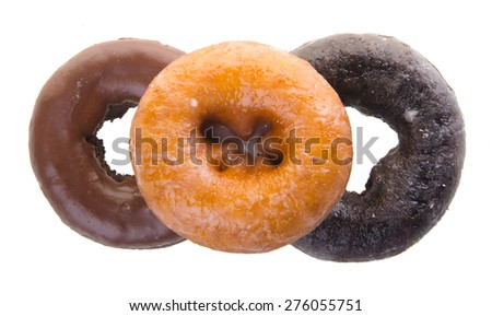 donuts. delicious and sweet donuts on the background - stock photo
