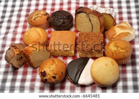 donuts frame - stock photo