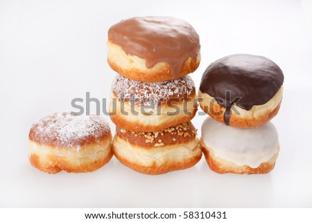 donuts on the white background - stock photo