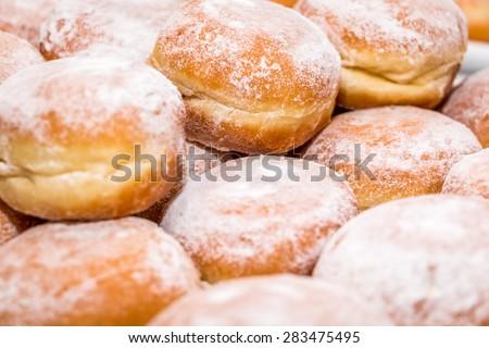 Donuts - Sufganiyah - stock photo