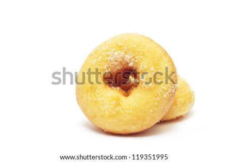 donuts with sugar on white background