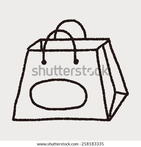 Doodle Bag - stock photo