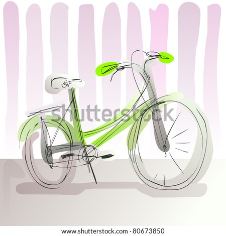 doodle bike - for vector version see image no. 80366722 - stock photo