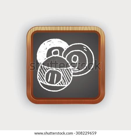 Doodle Billiards - stock photo