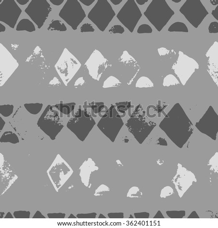 Doodle hand drawn grunge african striped endless pattern. White and gray bright seamless texture. Can be used for invitation, fabric, paper print, web background, wallpaper, textile. Raster version