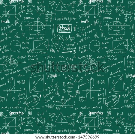 doodle maths seamless background, texture and pattern - stock photo