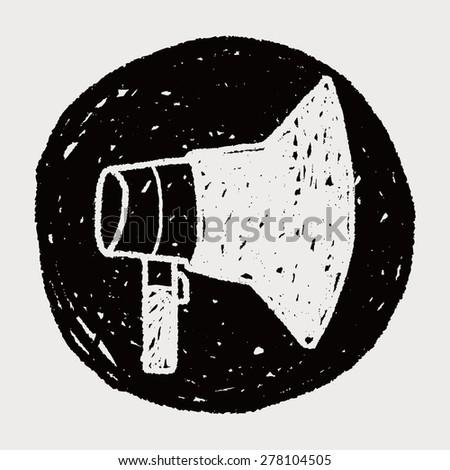 doodle Megaphone - stock photo