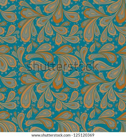 Doodle seamless paisley pattern. Raster. - stock photo
