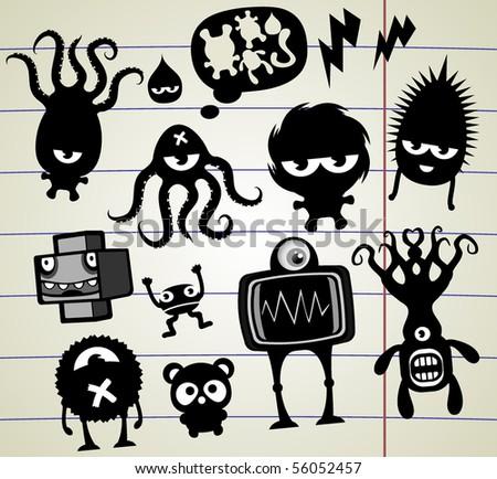 doodles freaks - stock photo