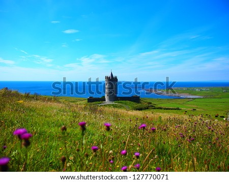 Doonagore castle, Doolin, Co Clare, Ireland - stock photo