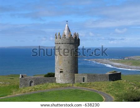 Doonagore Castle near the Doolin, Ireland - stock photo