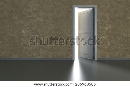 door and light - stock photo