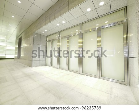 Door and walkway - stock photo