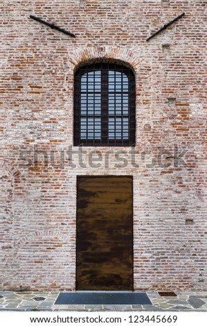 Door and window - stock photo