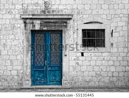 Door and window - stock photo