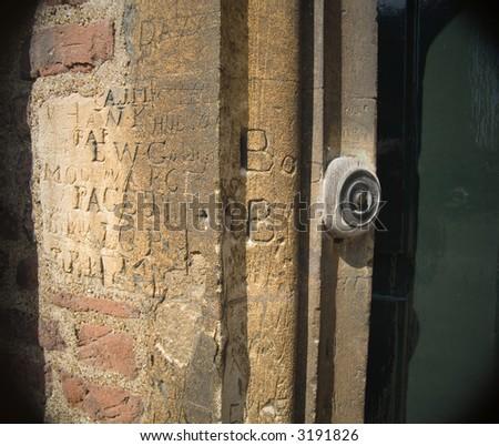 door bell - stock photo