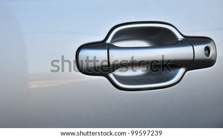 Door car closeup detail - stock photo