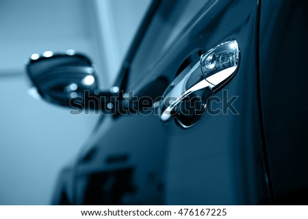 Door car - detail of a luxury car