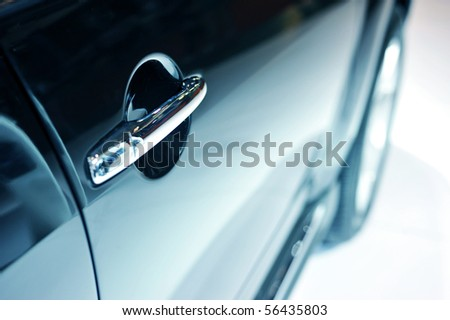 Door car - detail of a luxury car - stock photo