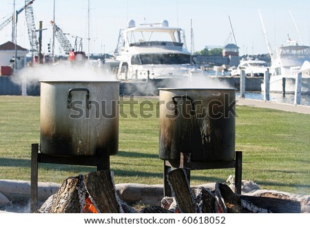 Door County Fish Boil - stock photo