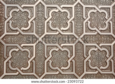 Door details of Hassan II Mosque in Casablanca, Morocco - stock photo