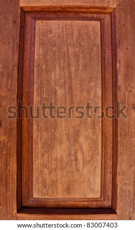 Door frame made of hardwood with the durability and old. - stock photo