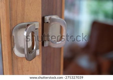 Door handle - stock photo