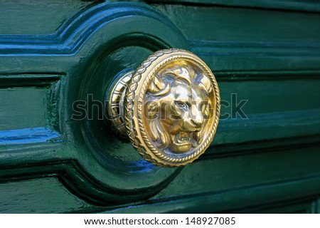 Door Handle at Paris, France - stock photo