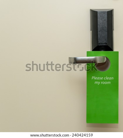 Door handle at the hotel. Photo for microstock