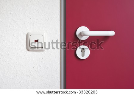 Door Handle Door Latch with Lock and Light Switch