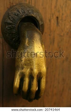 Door Handle in Mexico - stock photo
