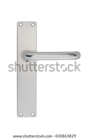 door handle isolated on white background - stock photo