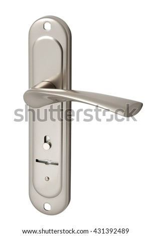 door handle with keyhole isolated on white background
