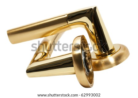 door handles isolated on a white background - stock photo