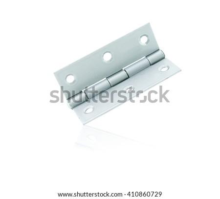 Door hinge isolated on white background - stock photo
