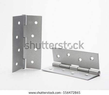 Door hinges. - stock photo