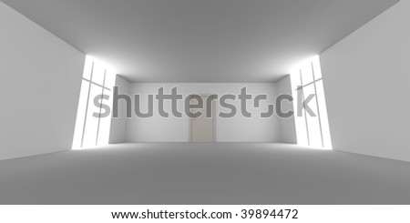 Door in a empty room