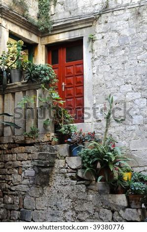 door in Croatia - stock photo