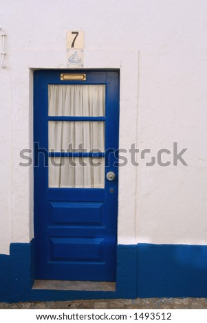 Door in Ericeira - stock photo